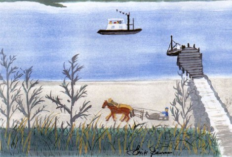 Dad's painting of Siø in the summer of 1935