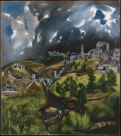 El Greco's famous painting: View of Toledo