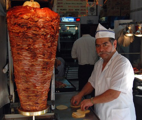 Tacos Pastor at one of my favourite taquerias in Mexico D.F.