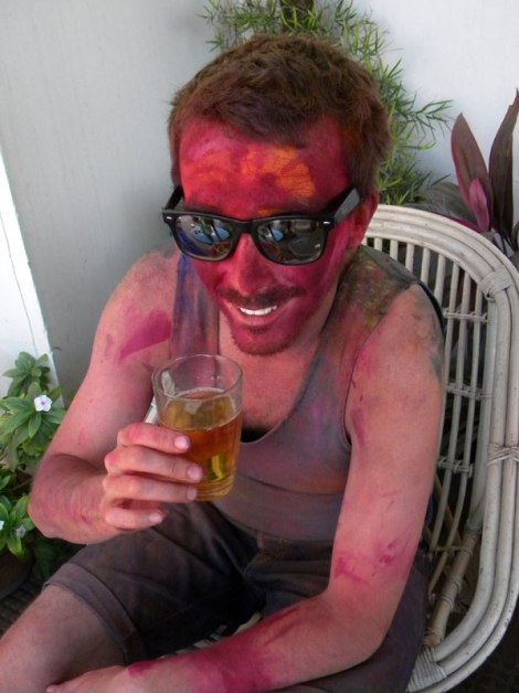 One Aussie AFTER his shower; that colour really stains!