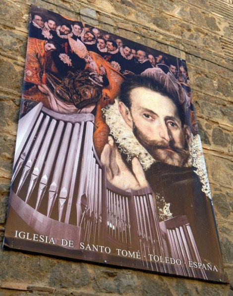 Poster on Church of the El Greco works inside