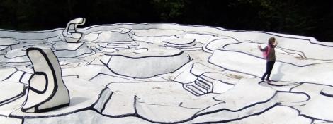 Jean Dubuffet's walk-about sculpture in the Kroller Muller Sculpture Garden near Utrecht, Holland