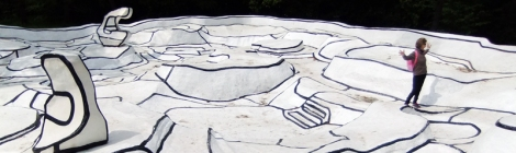 Jean Dubuffet's walk-about sculpture in the Kroller Muller Sculpture Garden near Utrecht, Holland