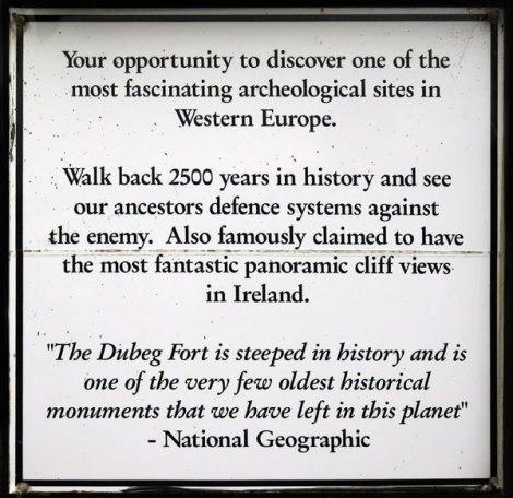 Dunbeg Fort notes on the Dingle Peninsula, Ireland