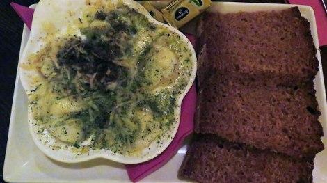 Prawn and monkfish dish at Monroes in Galway, Ireland