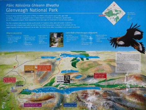 Sign for Glenveagh National Park in Ireland