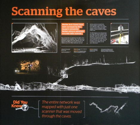 Scanning the caves: Marble Arch Caves near Enniskellen in Ireland, UK