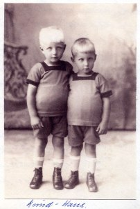 Dad and his twin brother Knud around 1923ish