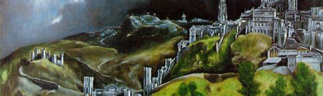 El Greco painting: View of Toledo