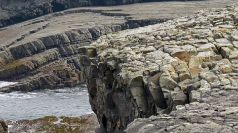 The beach at the Bridges of Ross was full of rock textures