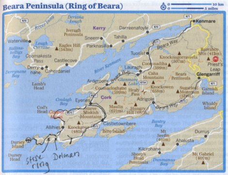 Route Oct 7 & 8 on the Beara Peninsula