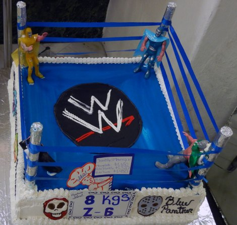 Pastelería Ideal: A Historic Bakery in Mexico City. This is their 'Luchas Libres' (Masked Mexican Wrestlers) Cake