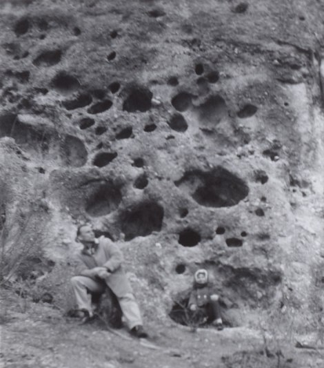 dad and I at the lava holes somewhere in the Okanogan, March 1964