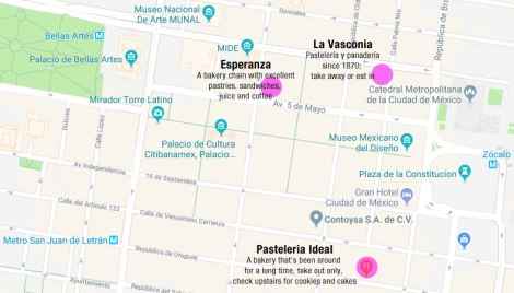 Mexico City: Bakeries near the Zocalo