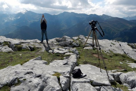 Photographer in the Picos de Europa