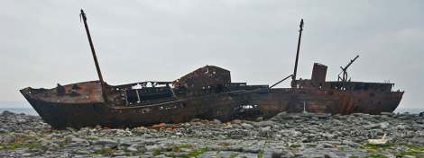Shipwreck on the Aran Island of Inisheer, Ireland