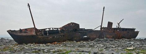 Shipwreck on the Aran Island of Inisheer, Ireland