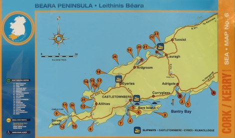 Beara Sign with Route