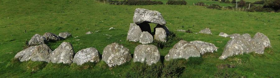 Megalithic Tombs at Carrowmore near Sligo in Ireland