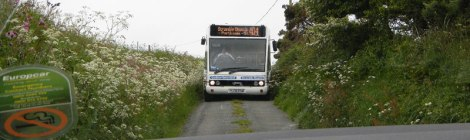 Stand-off with a Welsh bus on a narrow roads