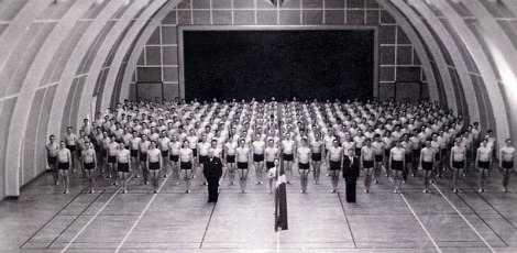 The gymnasts put on a show at the Ollerup School Gymnastics in Denmark, 1941