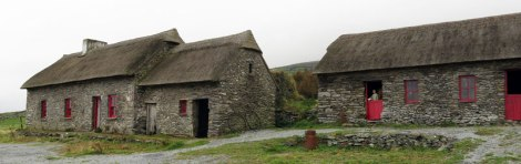 Famine Houses on the Dingle Peninsula of Ireland