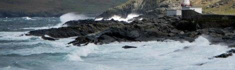 lighthouse on the rocky shores of Valentia Island, Ireland