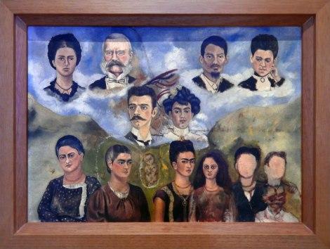 Frida Kahlo's family portrait (unfinished)