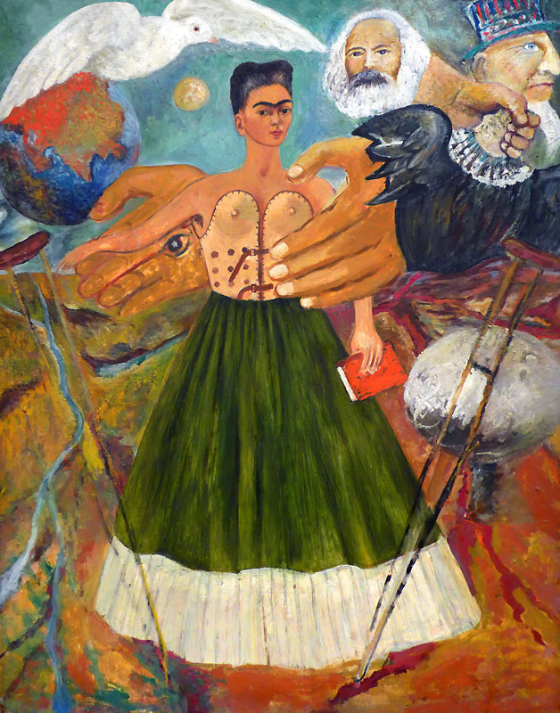 Frida Kahlo's self-portrait with brace
