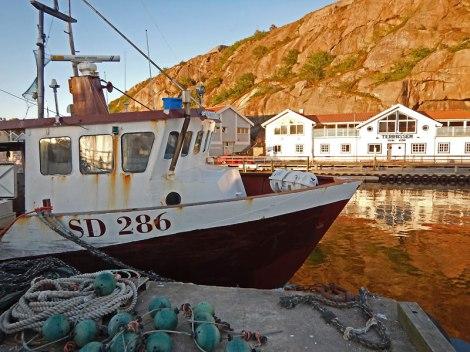 Boat in Grebbestad harbour in Sweden