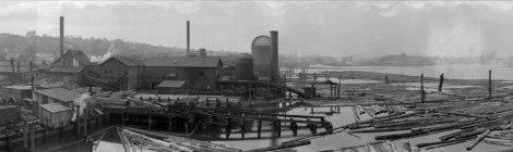 Chew Shingle Mill in False Creek, Vancouver