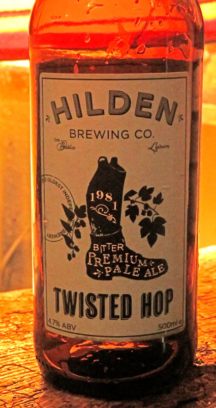 An excellent beer, Twisted Hop, at the Hole-in-the-Wall Pub in Kilkenny, Ireland
