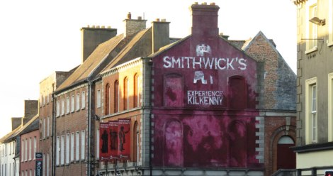 Smithwick's mural on a building in Kilkenny, Ireland