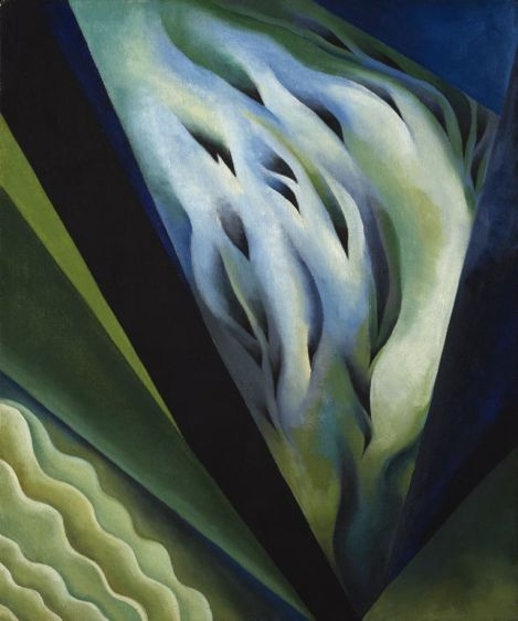 Blue and Green Music, a painting by Georgia O'Keefe