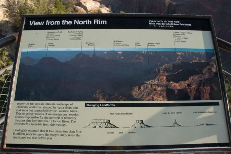 Grand Canyon North Rim sign