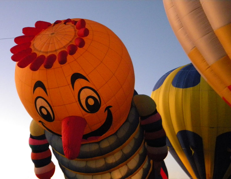 a balloon 'fire up' that evening in Mancos, the little town just on the other side of Mesa Verde