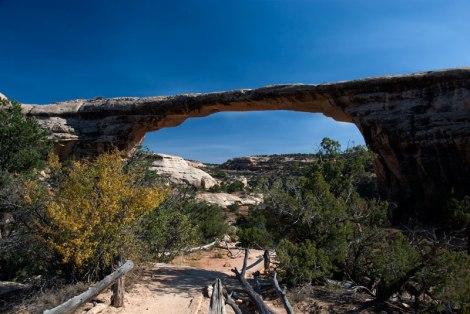 Natural Bridges rock formation in Utah, USA