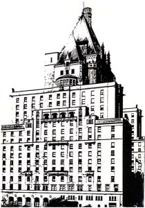 The Hotel Vancouver in 1939 for the 50th Anniversary brochure