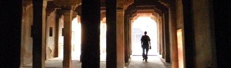 columns in pierced screen in Fatehpur Sikri in India