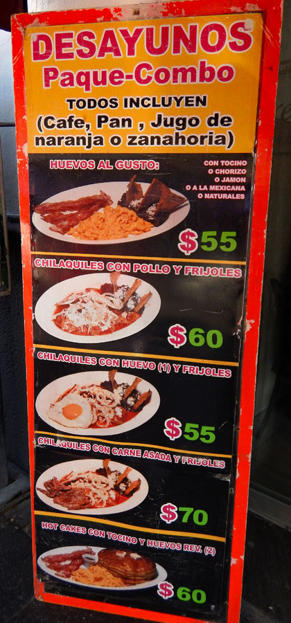 Puebla: Desayunos Menu