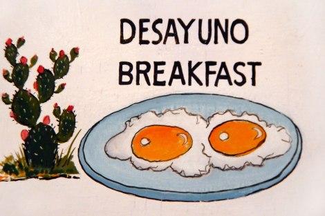 Desayuno/Breakfast Sign