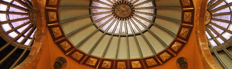 The Domed Ceiling of Bellas Artes in Mexico City