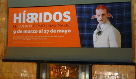 Bellas Artes Poster for the Exhibit Híbridos