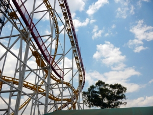 Roller coaster in Chapultepec Park in Mexico City