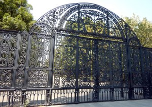 Closed gate to Chapultepec Park on Mondays