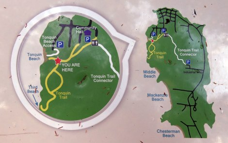 map of Tonquin Trail out of Tofino on Vancouver Island