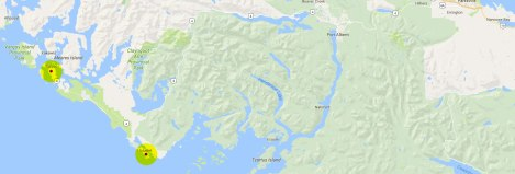Map of Vancouver Island Hwy 4 to Tofino, Ucluelet and the Pacific Rim National Park