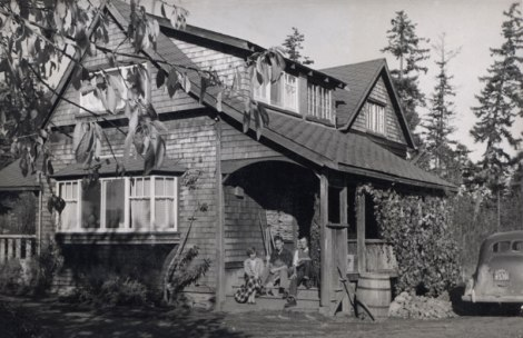 family homestead in Chemainus c.1952