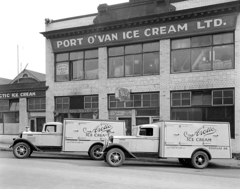 Ice cream factory with Arctic Ice Cream trucks