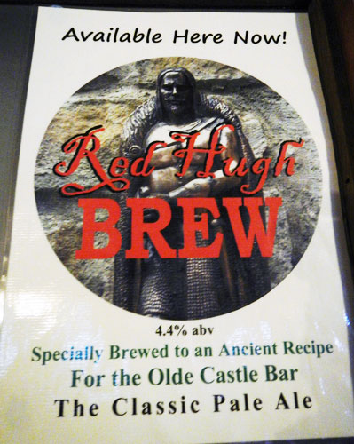 Special Red Hugh Brew available only at Olde Castle Bar in Donegal, Ireland